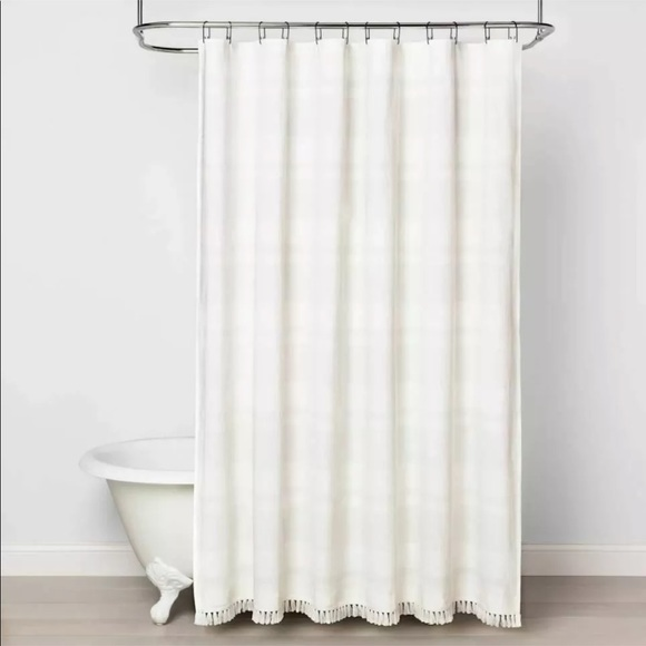 Hearth and Hand Textured Stripe Shower Curtain